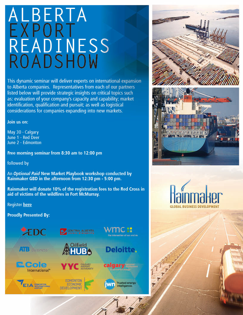Alberta Export Readiness Roadshow Flyer